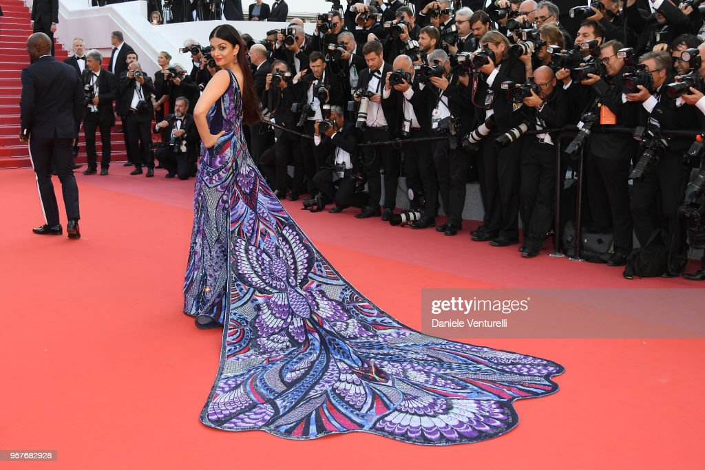 Aishwarya Rai attends the screening of `Girls Of The Sun ` during the 71st annual Cannes Film Festival at Palais des Festivals on May 12 2018 in...