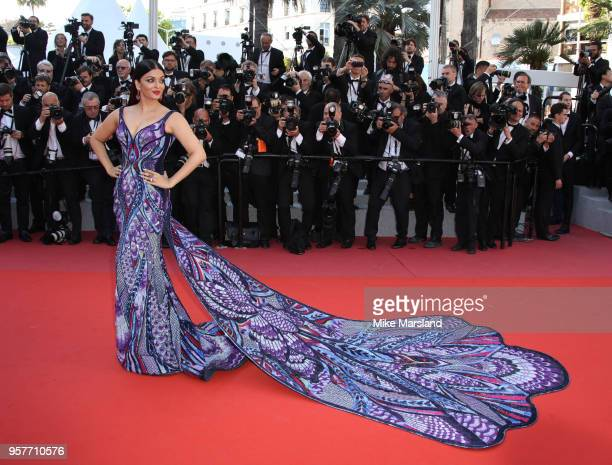 Aishwarya Rai attends the screening of 'Girls Of The Sun ' during the 71st annual Cannes Film Festival at Palais des Festivals on May 12 2018 in...