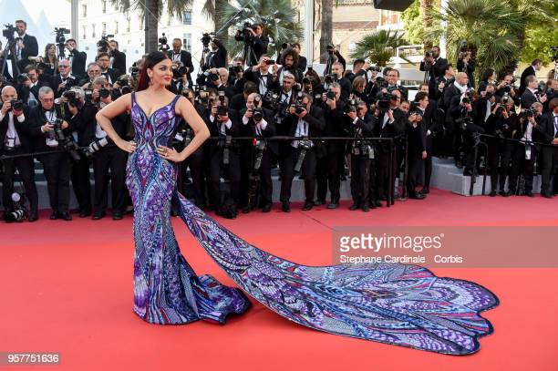 Aishwarya Rai attends the screening of Girls Of The Sun during the 71st annual Cannes Film Festival at Palais des Festivals on May 12 2018 in Cannes...
