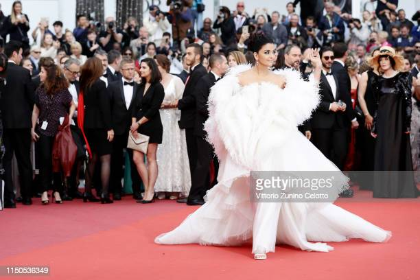 "Aishwarya Rai attends the screening of ""La Belle Epoque"" during the 72nd annual Cannes Film Festival on May 20, 2019 in Cannes, France."
