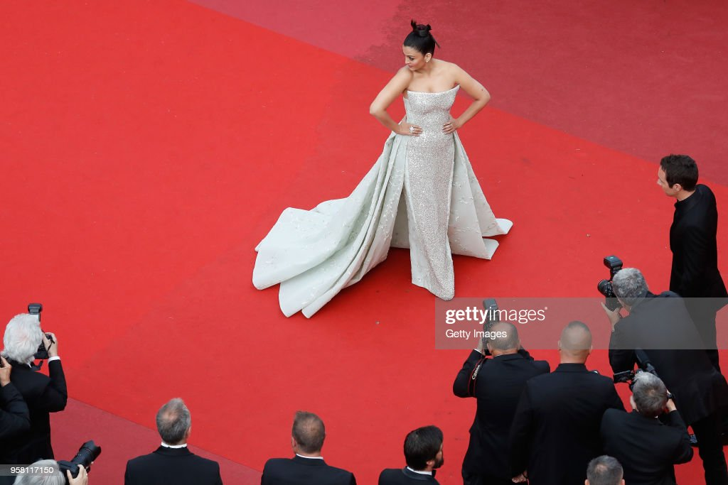 Aishwarya Rai attends the screening of `Sink Or Swim ` during the 71st annual Cannes Film Festival at Palais des Festivals on May 13 2018 in Cannes...