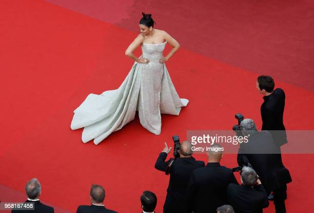 Aishwarya Rai attends the screening of 'Sink Or Swim ' during the 71st annual Cannes Film Festival at Palais des Festivals on May 13 2018 in Cannes...