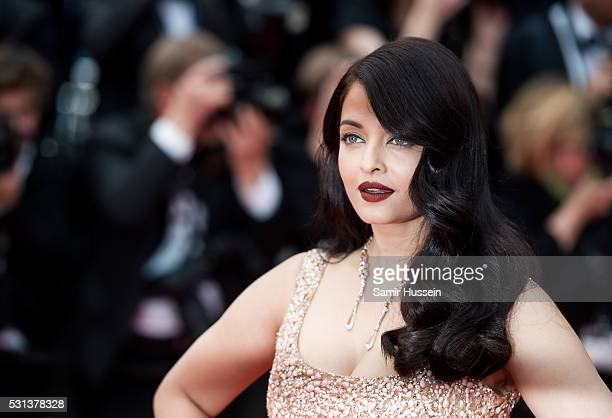 Aishwarya Rai attends the screening of 'The BFG ' at the annual 69th Cannes Film Festival at Palais des Festivals on May 14 2016 in Cannes France