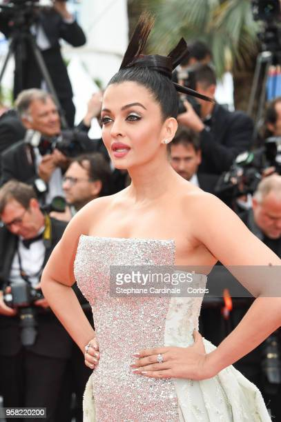 Aishwarya Rai attends the 'Sink Or Swim ' Photocall during the 71st annual Cannes Film Festival at Palais des Festivals on May 13 2018 in Cannes...