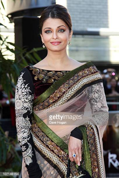 Aishwarya Rai attends the world premiere of Raavan held at The BFI Southbank on June 16 2010 in London England