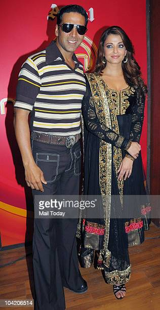 Aishwarya Rai Bachchan and Akshay Kumar at an event in Mumbai on September 16 2010