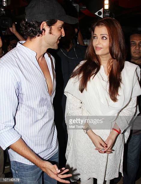 Aishwarya Rai Bachchan and Hrithik Roshan at the special screening of the film Guzarish for quadriplegics in Mumbai on November 24 2010
