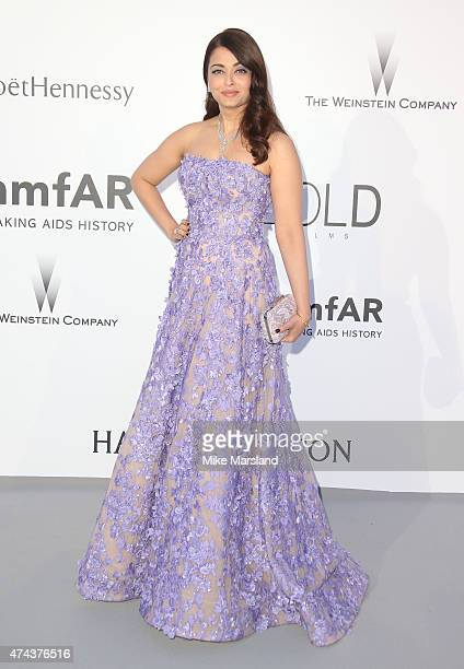 Aishwarya Rai Bachchan attends amfAR's 22nd Cinema Against AIDS Gala Presented By Bold Films And Harry Winston at Hotel du CapEdenRoc on May 21 2015...