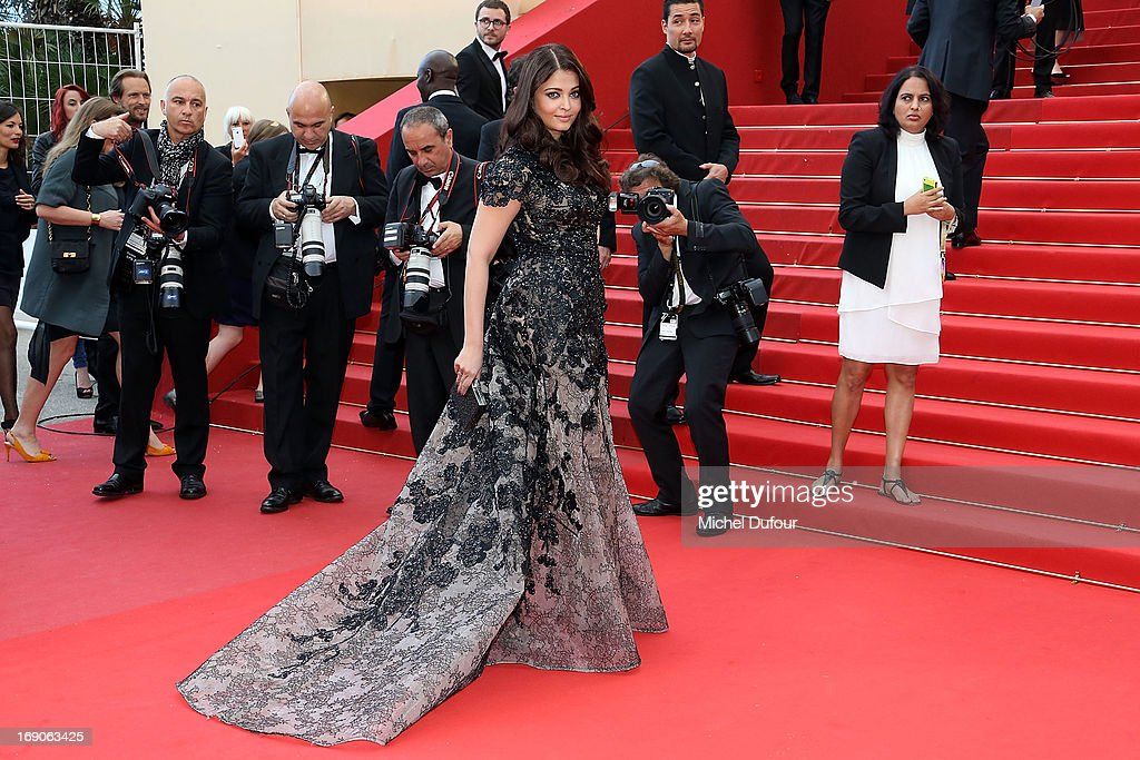 Aishwarya Rai Bachchan attends `Inside Llewyn Davis` Premiere during the 66th Annual Cannes Film Festival at Palais des Festivals on May 19 2013 in...