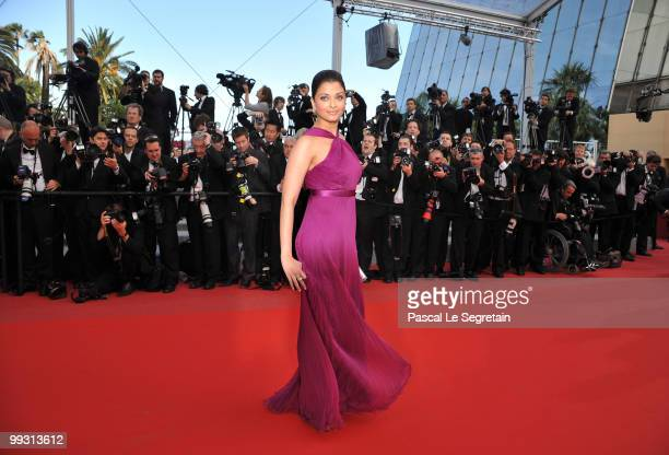 Aishwarya Rai Bachchan attends the IL Gattopardo Premiere at the Palais des Festivals during the 63rd Annual Cannes Film Festival on May 14 2010 in...