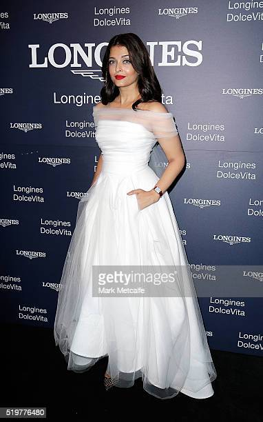 Aishwarya Rai Bachchan attends the Longines DolceVita Asia Pacific launch at Museum of Contemporary Art on April 8 2016 in Sydney Australia