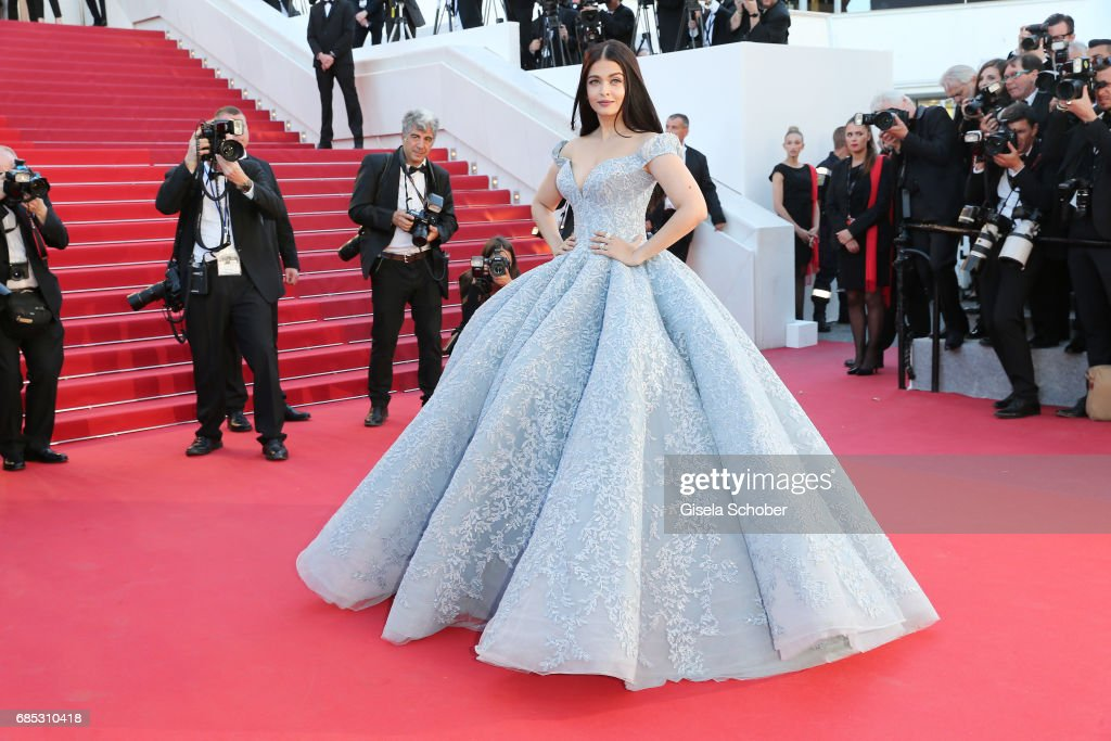 Aishwarya Rai Bachchan attends the `Okja` screening during the 70th annual Cannes Film Festival at Palais des Festivals on May 19 2017 in Cannes...
