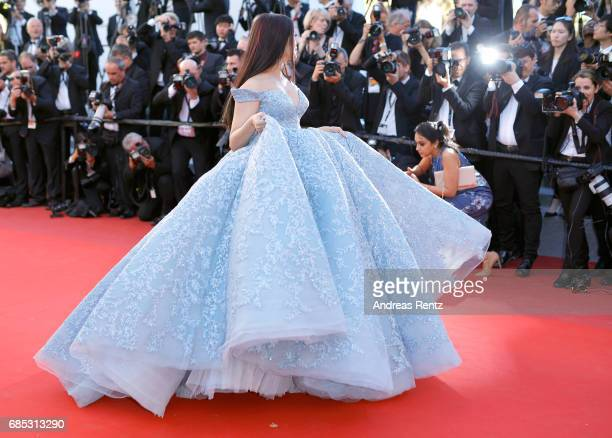 "Aishwarya Rai Bachchan attends the ""Okja"" screening during the 70th annual Cannes Film Festival at Palais des Festivals on May 19, 2017 in Cannes,..."