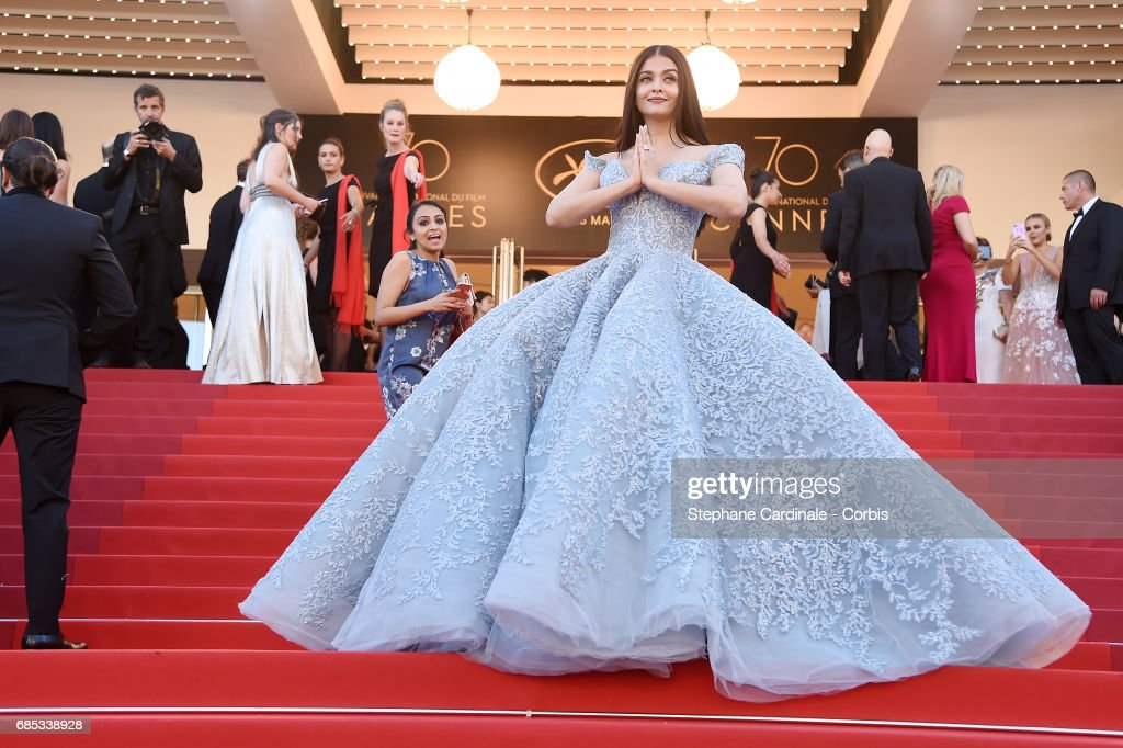 Aishwarya Rai Bachchan attends the 'Okja' screening during the 70th annual Cannes Film Festival at Palais des Festivals on May 19, 2017 in Cannes, France.