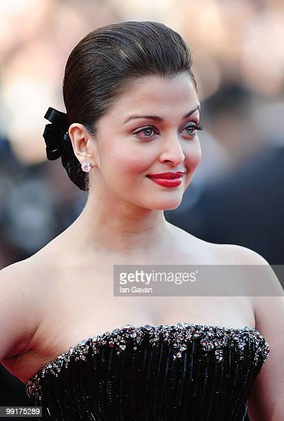 Aishwarya Rai Bachchan attends the 'On Tour' Premiere at the Palais des Festivals during the 63rd Annual Cannes Film Festival on May 13 2010 in...