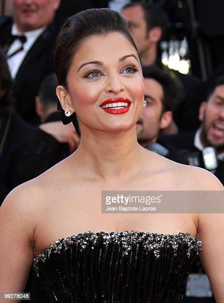Aishwarya Rai Bachchan attends the Premiere of 'On Tour' at the Palais des Festivals during the 63rd Annual International Cannes Film Festival on May...