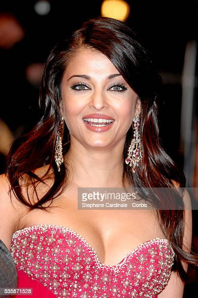 Aishwarya Rai Bachchan attends the premiere of 'The Pink Panther 2' during the 59th annual Berlin Film Festival