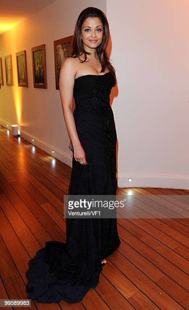 CANNES FRANCE MAY 15 Aishwarya Rai Bachchan attends the Vanity Fair and Gucci Party Honoring Martin Scorsese during the 63rd Annual Cannes Film...