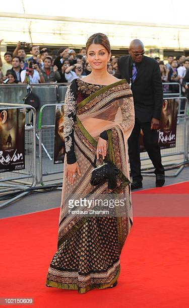 Aishwarya Rai Bachchan attends the World Premiere of Raavan at BFI Southbank on June 16 2010 in London England