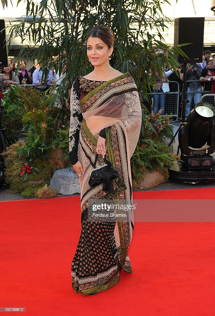 Aishwarya Rai Bachchan attends the World Premiere of `Raavan` at BFI Southbank on June 16 2010 in London England