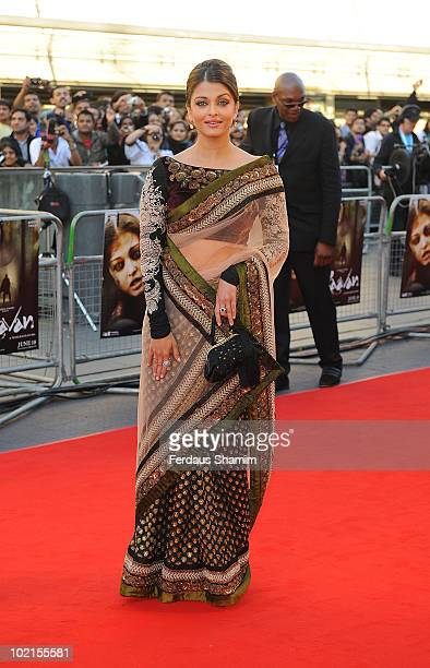Aishwarya Rai Bachchan attends the World Premiere of 'Raavan' at BFI Southbank on June 16 2010 in London England