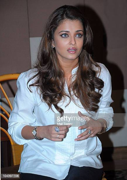 Aishwarya Rai Bachchan during a press conference for the film Robot in Mumbai on September 23 2010