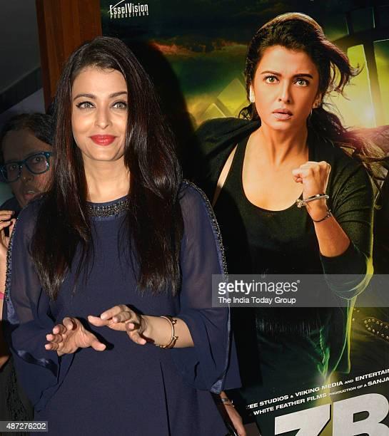 Aishwarya Rai Bachchan during the song launch from her upcoming movie 'Jazbaa' in Mumbai