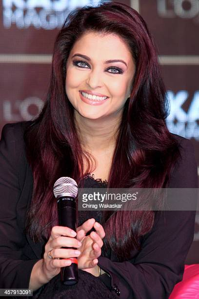 Aishwarya Rai Bachchan launches Kajal Magique by L'Oreal Paris on December 19 2013 in Mumbai India