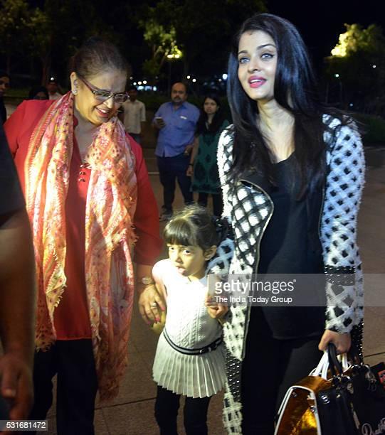 Aishwarya Rai Bachchan Leaves For Cannes With her Daughter Aaradhya at Mumbai airport in Mumbai