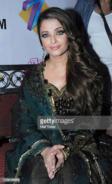 Aishwarya Rai Bachchan on the sets of a TV showin Mumbai on October 16 2010