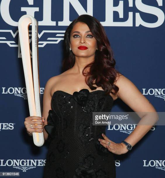 Aishwarya Rai Bachchan poses during the official Longines Australian boutique launch on February 3 2018 in Sydney Australia