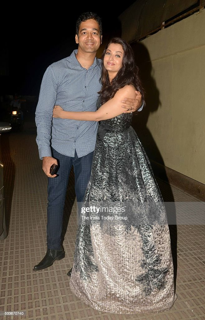 Aishwarya Rai Bachchan with Aditya Rai at the Premiere of her upcoming movie Sarbjit in Mumbai