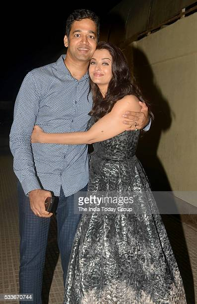 Aishwarya Rai Bachchan with Aditya Rai at the Premiere of her upcoming movie Sarbjit in Mumbai