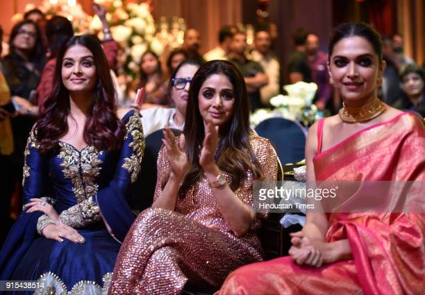 Aishwarya Rai Deepika Padukone and Sridevi during Hindustan Times India's Most Stylish Awards at Yash Raj Films Private Limited on January 24 2018 in...