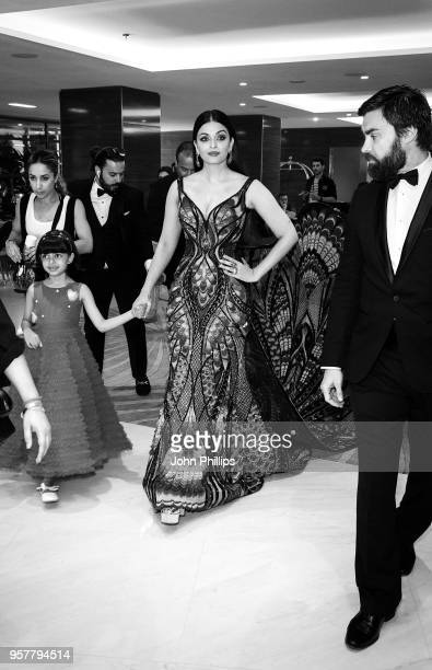 Aishwarya Rai departs the Martinez Hotel during the 71st annual Cannes Film Festival at on May 12 2018 in Cannes France