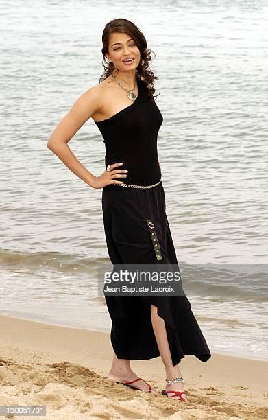 Aishwarya Rai during 2003 Cannes Film Festival Aishwarya Rai Photo Call at Gray Albion Beach in Cannes France