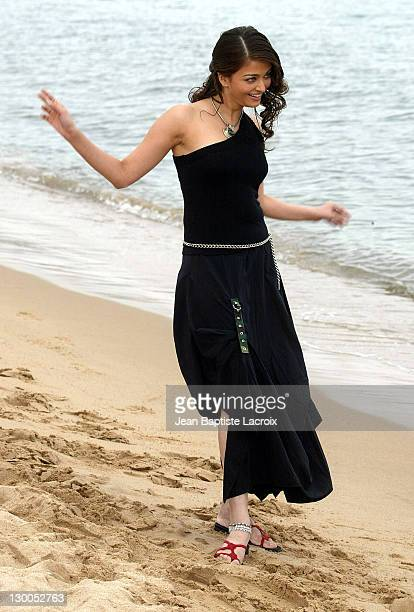 Aishwarya Rai during 2003 Cannes Film Festival Aishwarya Rai Photo Call at Gray Albion Beach in Cannes France