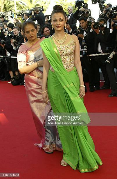 Aishwarya Rai during 2003 Cannes Film Festival 'Dogville' Premiere at Palais Des Festival in Cannes France