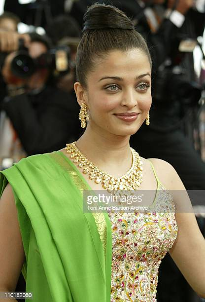 Aishwarya Rai during 2003 Cannes Film Festival Dogville Premiere at Palais Des Festival in Cannes France