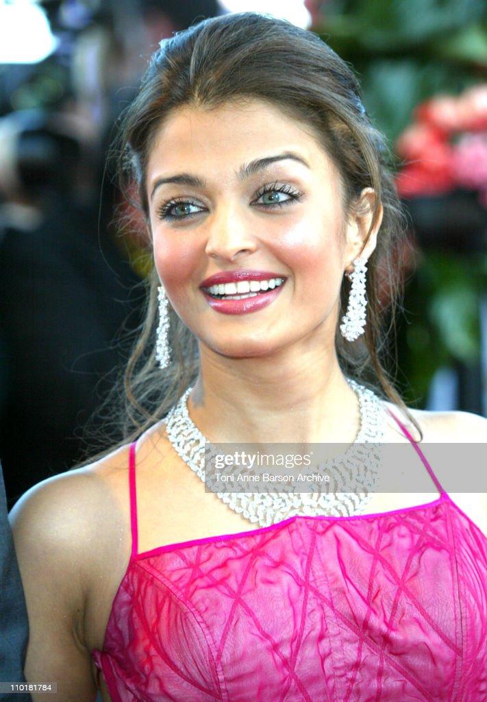 Aishwarya Rai during 2003 Cannes Film Festival `Fanfan La Tulipe` Opening Night Premiere at Palais des Festivals in Cannes France