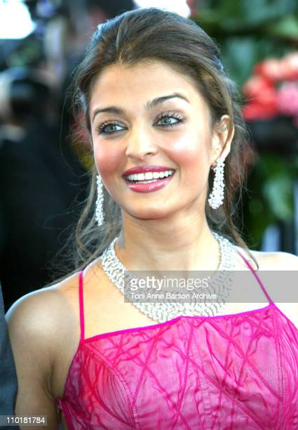 Aishwarya Rai during 2003 Cannes Film Festival 'Fanfan La Tulipe' Opening Night Premiere at Palais des Festivals in Cannes France