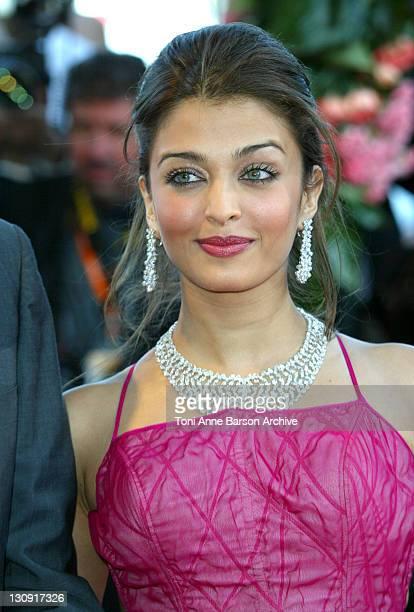 Aishwarya Rai during 2003 Cannes Film Festival Fanfan La Tulipe Opening Night Premiere at Palais des Festivals in Cannes France