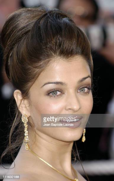 Aishwarya Rai during 2003 Cannes Film Festival 'Les Egares' Premiere at Palais Des Festival in Cannes France