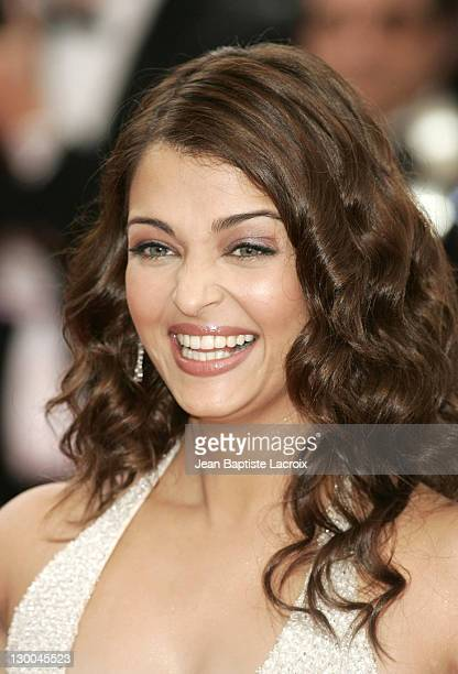 Aishwarya Rai during 2004 Cannes Film Festival 'The Bad Education' Opening Night at Palais Du Festival in Cannes France