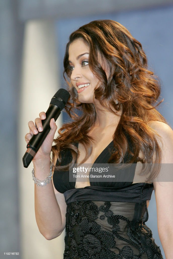 Aishwarya Rai during 2005 Cannes Film Festival Opening Ceremony at Palais Du Festivals in Cannes France