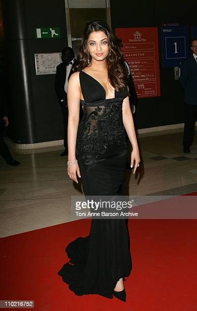 Aishwarya Rai during 2005 Cannes Film Festival Opening Gala Dinner at Palais des Festival in Cannes France