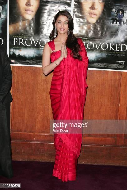 Aishwarya Rai during Aishwarya Rai 'Provoked' Photo Call at The Courthouse Hotel in London Great Britain