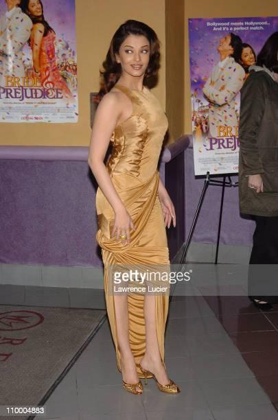 Aishwarya Rai during Bride Prejudice New York City Premiere at United Artists Union Square in New York City New York United States
