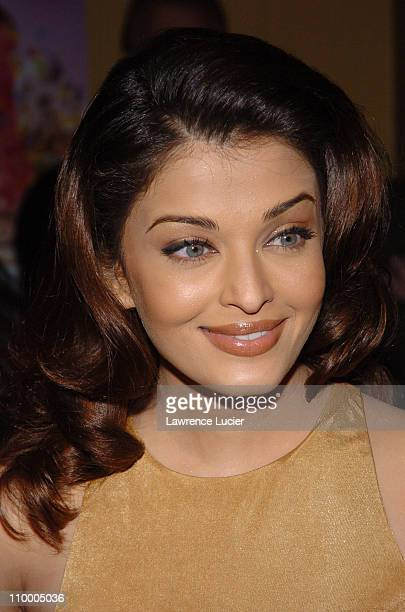 Aishwarya Rai during Bride Prejudice New York City Premiere at United Artists Union Square in New York City New York United States