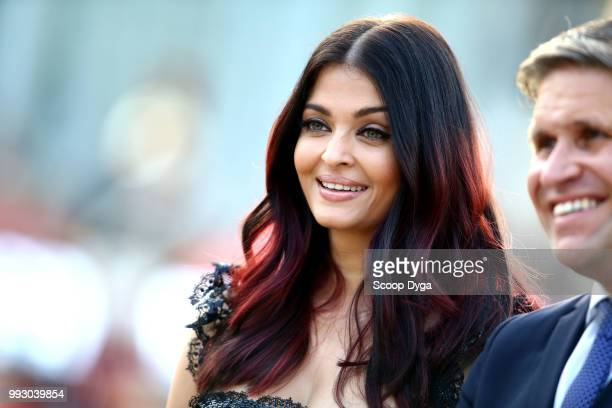Aishwarya Rai during the Longines Eiffel Challenge at Champ de Mars on July 6 2018 in Paris France